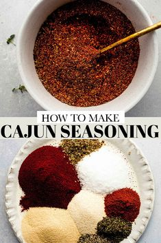 Learn how to make cajun seasoning in just 5 minutes with only a few ingredients! Save money and time with this simple recipe that can be used to season so many dishes. // recipe easy // shrimp // seafood // chicken // Louisiana Cajun Seasoning Recipe, Homemade Italian Seasoning, Salmon Seasoning, Easy Delicious Recipes, Yummy Snacks, Snack Recipes, Homemade Tacos, Few Ingredients, Tasty Dishes