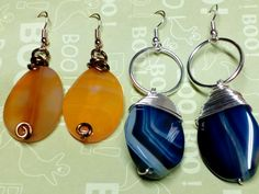 #70 Agate earrings