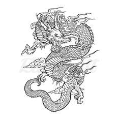 Piercing Tattoo, Arm Tattoo, Sleeve Tattoos, Piercings, Realistic Temporary Tattoos, Custom Temporary Tattoos, Chinese Dragon Drawing, Dragon Illustration, Dragon Tattoo Designs