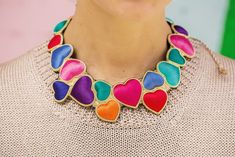 Colorful necklace by blogger-stylist Natalie Joos, via Honestly...WFT