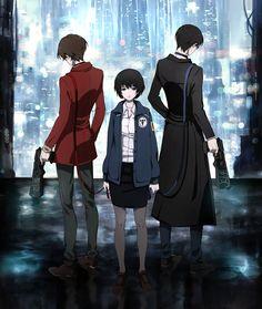 Zankyou no Terror, fan art: Terroristic Trio, Psycho Pass crossover by nipuni
