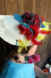 Preschool Paper & Glue Crafts Activities: Make a Bonnet