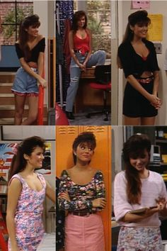 Kelly's outfits in saved by the bell.