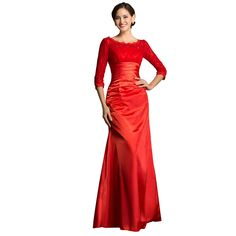 Long Black Red Mermaid Dress 2015 Grace Karin Long Sleeve Evening Dress  Women Formal Long Lace Evening Gown Robe Sirene CL4524 7d50e98c39af