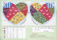 Patchwork Hearts Cross Stitch Chart