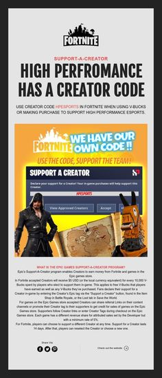 SUPPORT-A-CREATOR  HIGH PERFROMANCE  HAS A CREATOR CODE Hp News, The Creator, Coding, How To Make, Programming