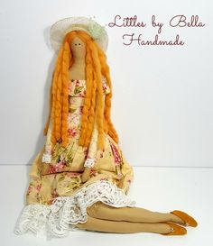 Textile doll tilda  romantic doll lace dress by littlesbyBella