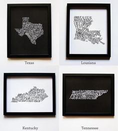 State Food Maps - I think Louisiana needs to be a lot bigger. All we know is food.