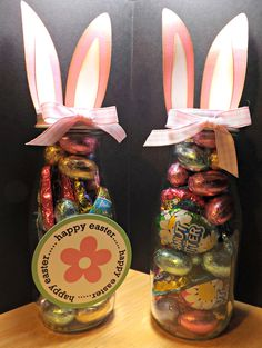 Love these Easter treats made with Starbucks bottles