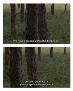 Discourse on Humanity from Andrei Tarkovsky's 1986 film The Sacrifice.