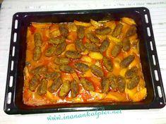 Köfte ve patatesleri yağda kızarmadan yapılan hafif İzmir Köfte tarifi.