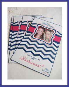 Modern Chevron Wine Label Bridal Party Gifts  by iDoArtsyWeddings, $30.00