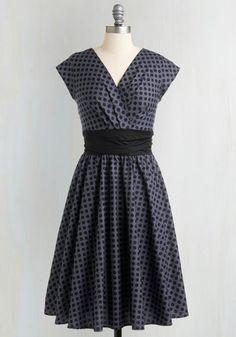 Jolie sur la robe de Banc Park à Dots | Mod Retro Vintage | Robes ModCloth.com