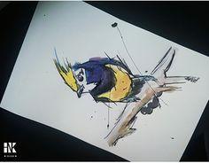 Working On Myself, New Work, Moose Art, Behance, Bird, Gallery, Check, Animals, Design