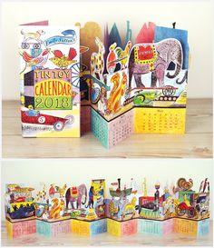 Tin Toy Calendar 2018 by Emily Sutton