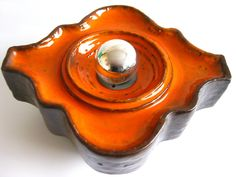 Space Age Ceramic Hustadt Lamp1970s West Germany