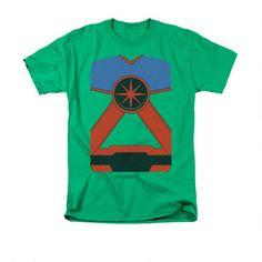 Martian manhunter shirt. One of Conor's favorites.