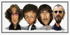 poster de los beatles en caricaturas - Buscar con Google