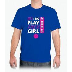 Yes I Do Play Like A Girl Basketball Tshirt - Mens T-Shirt