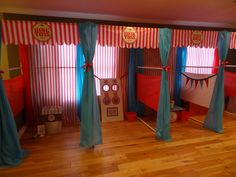Cole's Carnival | CatchMyParty.com- IDEA- game room set ups
