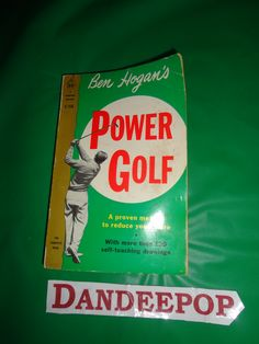 Ben Hogan's Power Golf Book 1963 Cardinal Edition find me at www.dandeepop.com
