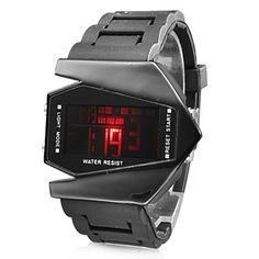 Reloj Pulsera LED de Hombres Edición V Con Correa de Silicona Azul con Función de Fecha (Negro) – EUR € 5.05