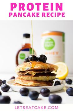 This easy protein pancakes recipe is a quick healthy breakfast and there's no banana in this pancake recipe that's great for meal prep! Whey protein powder, Greek yogurt, oats, and egg whites form the high protein base. Add your favorite toppings and get ready to try the best protein pancakes! #proteinpancake #proteinpancakes #proteinpancakesrecipe #easyproteinpancakes #healthypancakes #healthybreakfast #easybreakfast #brunch #breakfast #letseatcake Healthy Protein Pancakes, Quick Healthy Breakfast, Delicious Breakfast Recipes, Sweet Breakfast, Whey Protein, High Protein, Brunch Recipes, Healthy Recipes, Healthy Meals