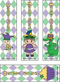 Mardi Gras Bookmarks Bookmarks