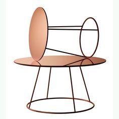 Breeze table - Swedese #interior #design #copper