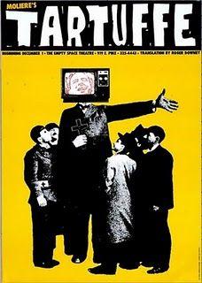 Art Chantry theater poster: Tartuffe
