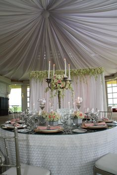 Rosette layered table fabric. Opulent Weddings at Tagaytay Highlands.