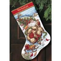 Dimensions® Santa's Journey Stocking Counted Cross-Stitch Kit