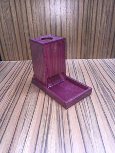 Dice Tower Solid Purple Heart With Tray