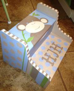 Hand Painted Step Stool- Custom Children's Furniture on Etsy, $65.00
