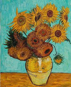 Seven Mind Numbing Facts About Sunflower Painting Van Gogh Famous Art Paintings, Van Gogh Paintings, Original Paintings, Van Gogh Arte, Van Gogh Pinturas, Van Gogh Sunflowers, Art Van, Post Impressionism, Art Moderne