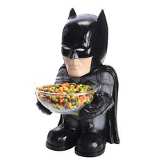 Surprise all of the kids this year on Halloween, by letting Batman offer them some candy. This Batman Candy Bowl Holder lets the Dark Knight dish out all of the Costume Halloween, Batman Halloween, Halloween Candy Bowl, Batman Party, Batman Birthday, Trendy Halloween, Halloween Parties, Outdoor Halloween, Halloween Crafts