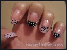 polka dot french tips