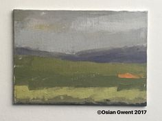 Black Hill in the black Mountains 5x7 oil on canvas