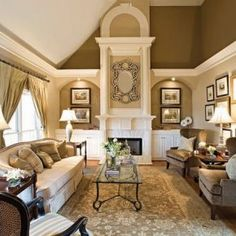 Neutral Living Room Colors Elegant Living Rooms In Neutral Colors Traditional Home, The 8 Best Neutral Paint Colors Thatll Work In Any Home No, Neutral Colors For The Living Room, Family Room Design, Living Room Color Schemes, Winter Living Room, Home And Living, Living Room Designs, Elegant Living Room, Home Decor, Room Design, Gold Living Room