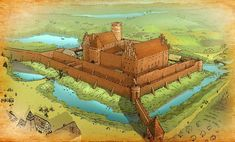 Fortification, Medieval Castle, Forts, Castles, Fantasy Art, Behance, Architecture, Painting, Character