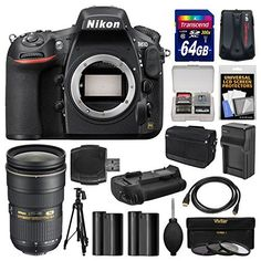 Kit includes:♦ 1) Nikon D810 Digital SLR Camera Body♦ 2) Nikon 24-70mm f/2.8G AF-S ED Zoom-Nikkor Lens♦ 3) Nikon DSLR Camera/Tablet Messenger Shoulder Bag♦ 4) Transcend 64GB SecureDigital SDXC...