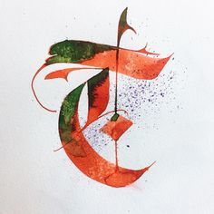 T-oday is a very sunny day! Calligraphy Fonts Alphabet, Tattoo Lettering Fonts, Graffiti Lettering, Types Of Lettering, Typography Letters, Hand Lettering For Beginners, Letterhead Design, Beautiful Calligraphy, Illuminated Letters