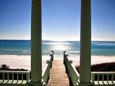 View of the beach and Gulf of Mexico from a pavilion at Seaside--wow!!