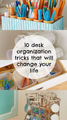 10 simple desk organization tricks