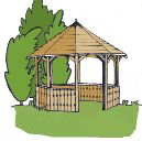 Free Plans, octagonal eight sided gazebo project.... how to build a gazebo..... great web site, lots of free plans