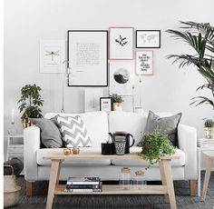 Gallery wall inspiration: a black and white print mix. but you could add some color. Are you looking for unique and beautiful art photos or poster p. All White Room, White Rooms, Poster Shop, Poster Prints, Inspiration Wand, Interior Rugs, Interior Design, Black And White Posters, Studio Apartment Decorating