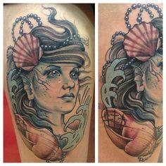 so love this mermaid tattoo