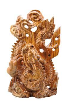 Hand craved Camphorwood Chinese zodiac of Dragon