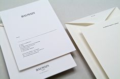 Balmain fashion show invitation! #minimalism #white #design #Printdesign #fashion