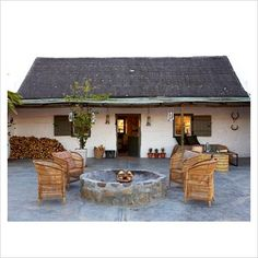 Rustic cottage with patio garden - Image No: 0086236 - Photo by House and Leisure River Lodge, Rustic Cottage, Interior Photography, Lodges, The Good Place, Gazebo, Outdoor Structures, Patio, Stock Photos
